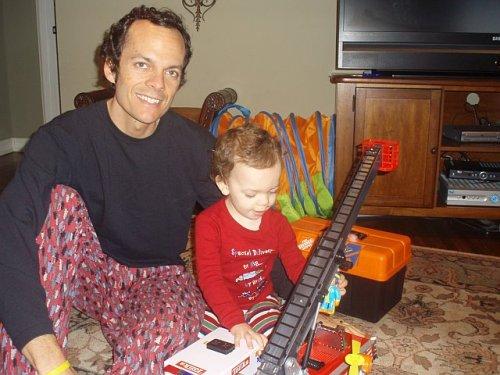 Grant and Dad XmasMorning