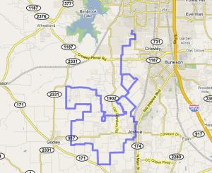 2008 Cowtown Classic Route