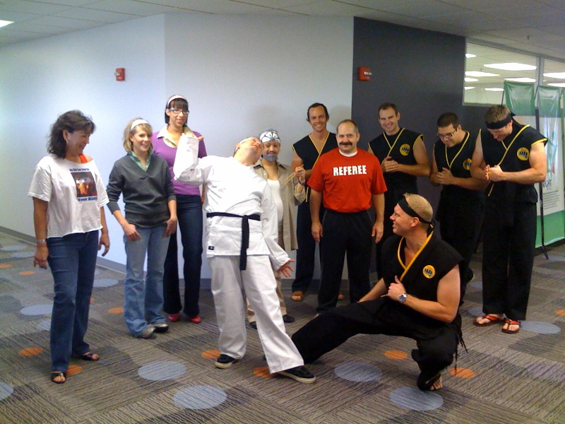 karate kid fight scene sweep the - The Karate Kid Halloween Fight