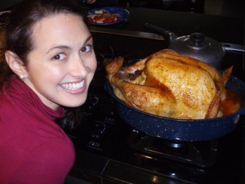 Jess and her first turkey
