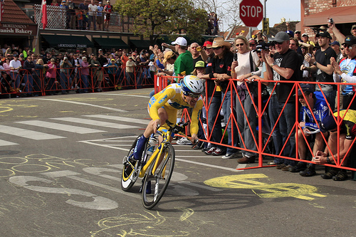 LEvi Leipheimer at the end of his winning ride
